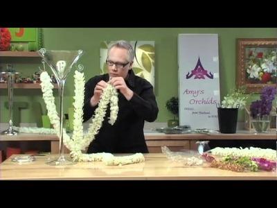 How to Arrange Flowers- Orchid Garland Flower Arrangements!
