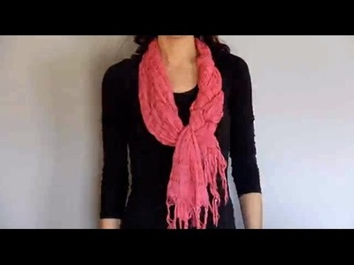 How To Braid a Scarf in 1 Minute