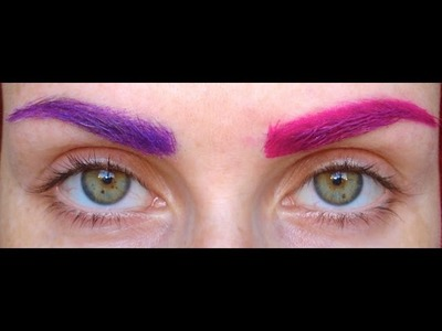 How to Colour Eyebrows ^_^ . .  (even on thick dark brows)
