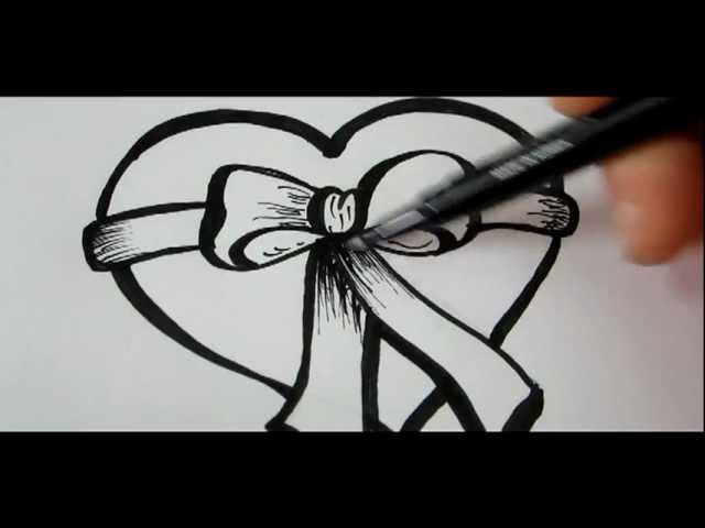 How To Draw A Heart & Bow