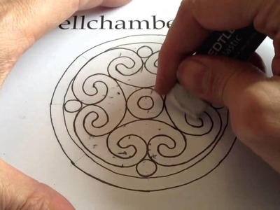 How to Draw Celtic Patterns 98 - Spiral Celtic Cross.Mandala 6of8