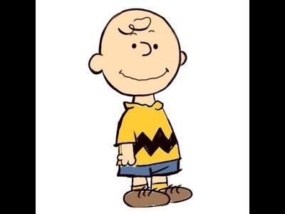 "How to Draw ""Charlie Brown (Peanuts)"" - Como Dibujar a Charlie Brown"