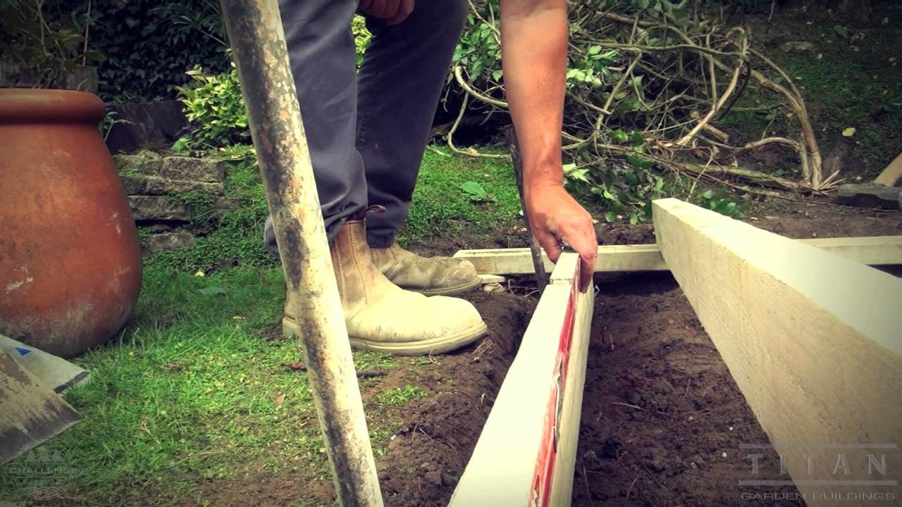 How To Lay A Base For A Garden Shed or Log Cabin
