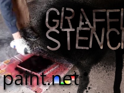 How to make a graffiti stencil using paint.net