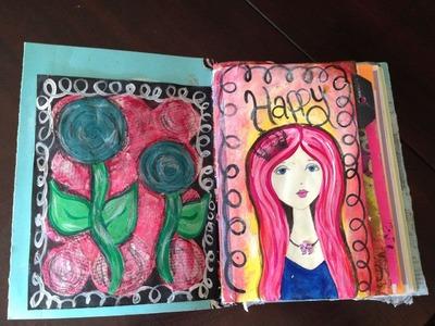 How to Make a Handmade Art Journal - Mixed Media - Smash Book