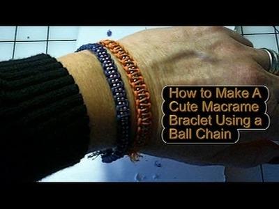 How to Make a Sparkly Macrame Bracelet