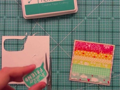 How to make a treat holder + mini card { Lawn Fawn }