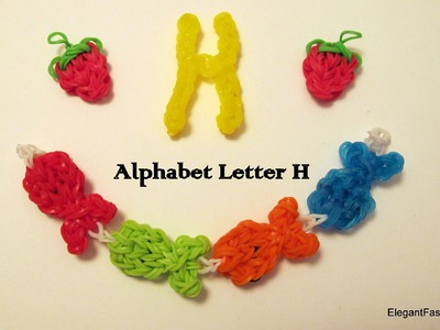 How to make alphabet letter H charm on rainbow loom