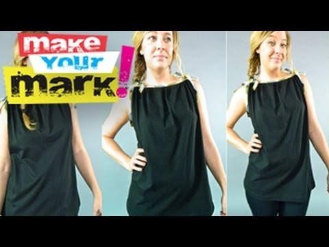 HOW TO: Make Bias Binding and a Bias Trimmed Tank From a Tee