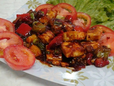 How to make Chilli Paneer - Dry - Quick and easy! - Video Recipe by Bhavna