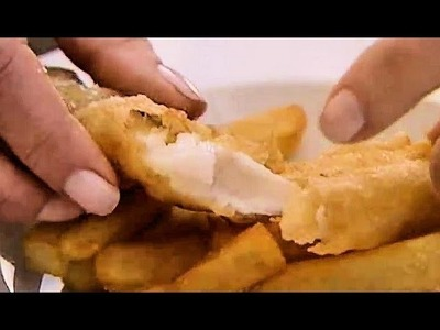 How to make real English fish'n chips for tonight.