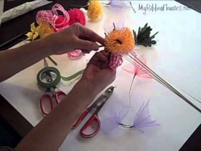 How to make Ribbon Flower Corsage, Boutonniere, and Hair Piece