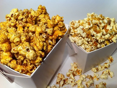 HOW TO MAKE SAVOURY POPCORN: Spicy & Cheesy!