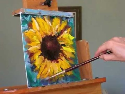 How to Paint a Sunflower!  Demo and FREE Painting Giveaway.