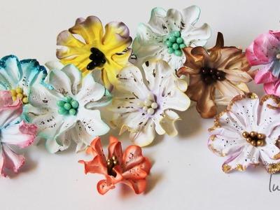 How To: Tutorial on Handmade Paper Gardenia Flowers