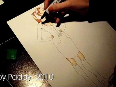 I'm drawing a fashion sketch 3