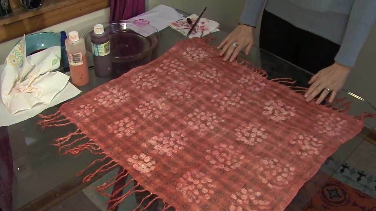 Making of a cotton scarf