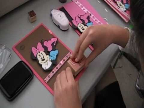 Minnie Mouse handmade Card Part 1