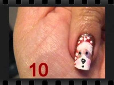 Nail Art Collage: Series 4 -- Christmas Nails, Fall Nails, Fimo & Rhinestones, etc.
