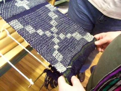 Nancy Today: Summer and Winter weaving tutorial (weaving 47) ASMR weaving
