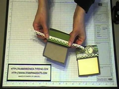 Stampin' Up! Tutorial~Post-it Note Staionary Holder.MOD
