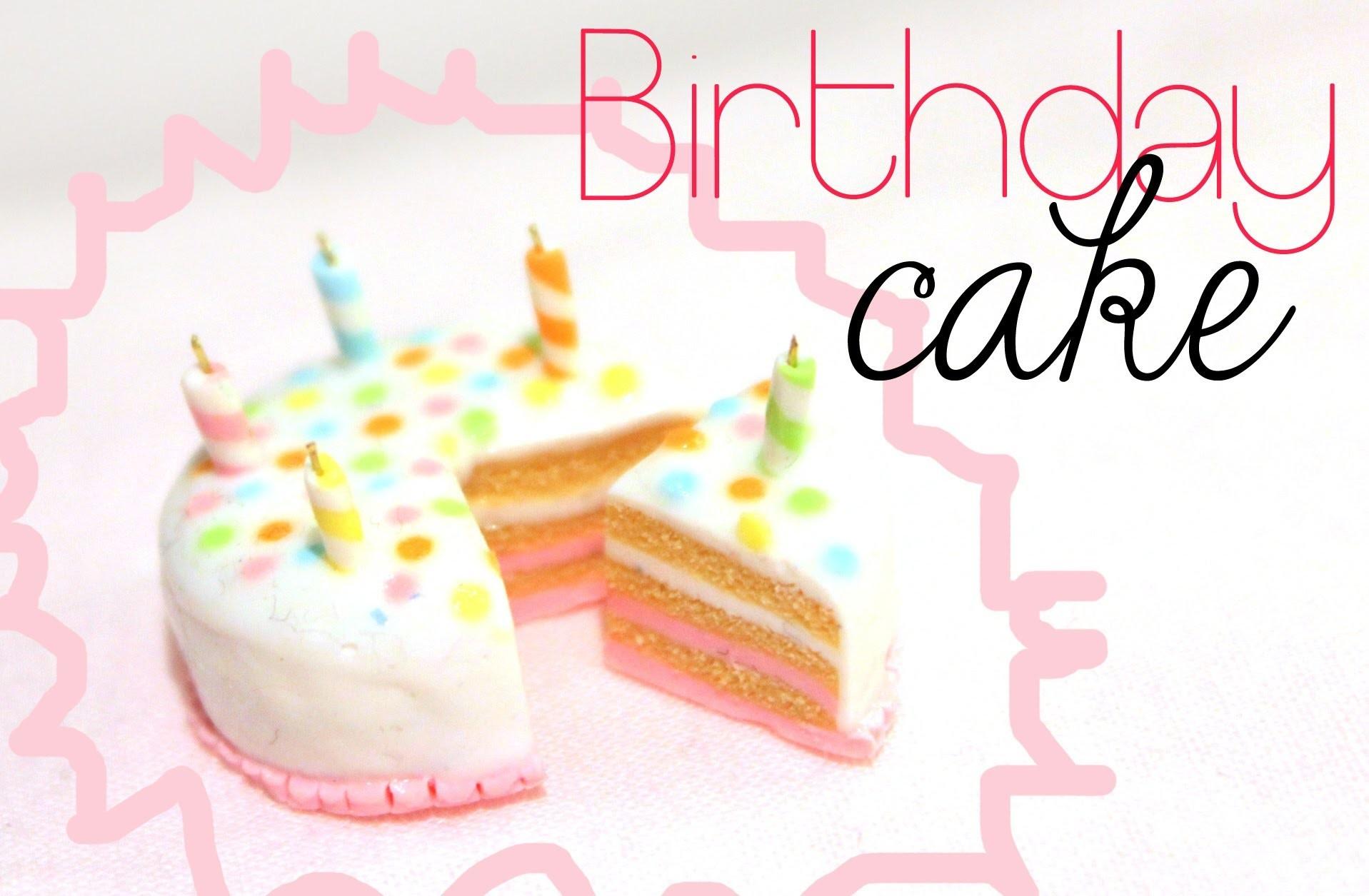 Birthday Cake! Tutorial in Polymer Clay