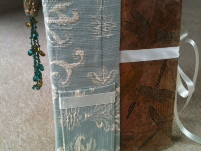 Book Binding: How to make a journal (Part 2 - Strengthening the spine and making the covers)