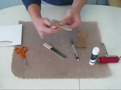 Covering Basic Chipboard Shapes with Patterned Paper