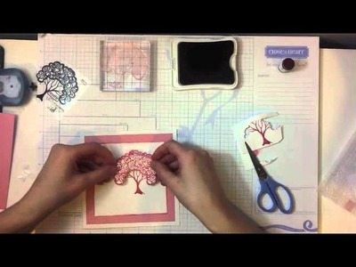 CTMH Card Tutorial using A Tree Stamp