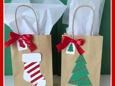 CTMH Close to My Heart Art Philosophy 5 Minute Holiday Christmas Gift Bags