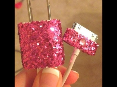 "D.I.Y Glam Your Iphone Charger! "" Glitter Land"""
