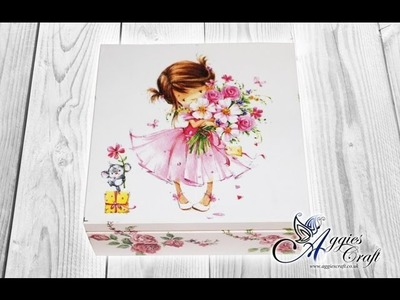 Decoupage tutorial on wooden box - how to use an iron to glue napkins