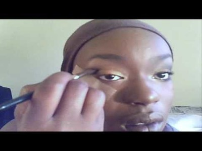 Eye Shadow Tutorial: Youtuber Request Brown Orange Gold Black Fall Smoky eye