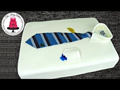 Father's Day Neck Tie And Shirt Cake - How To With The Icing Artist And Pink Cake Princess