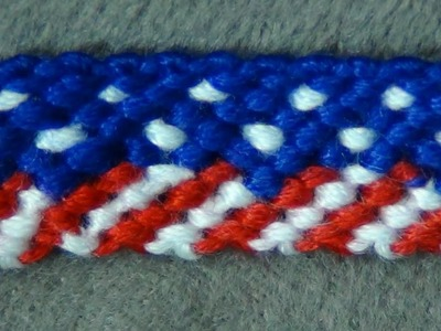 ► Friendship Bracelet Tutorial - Beginner - American. 4th of July