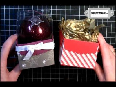 Glass Ball Ornament Box using Stampin Up Part 3 of 3