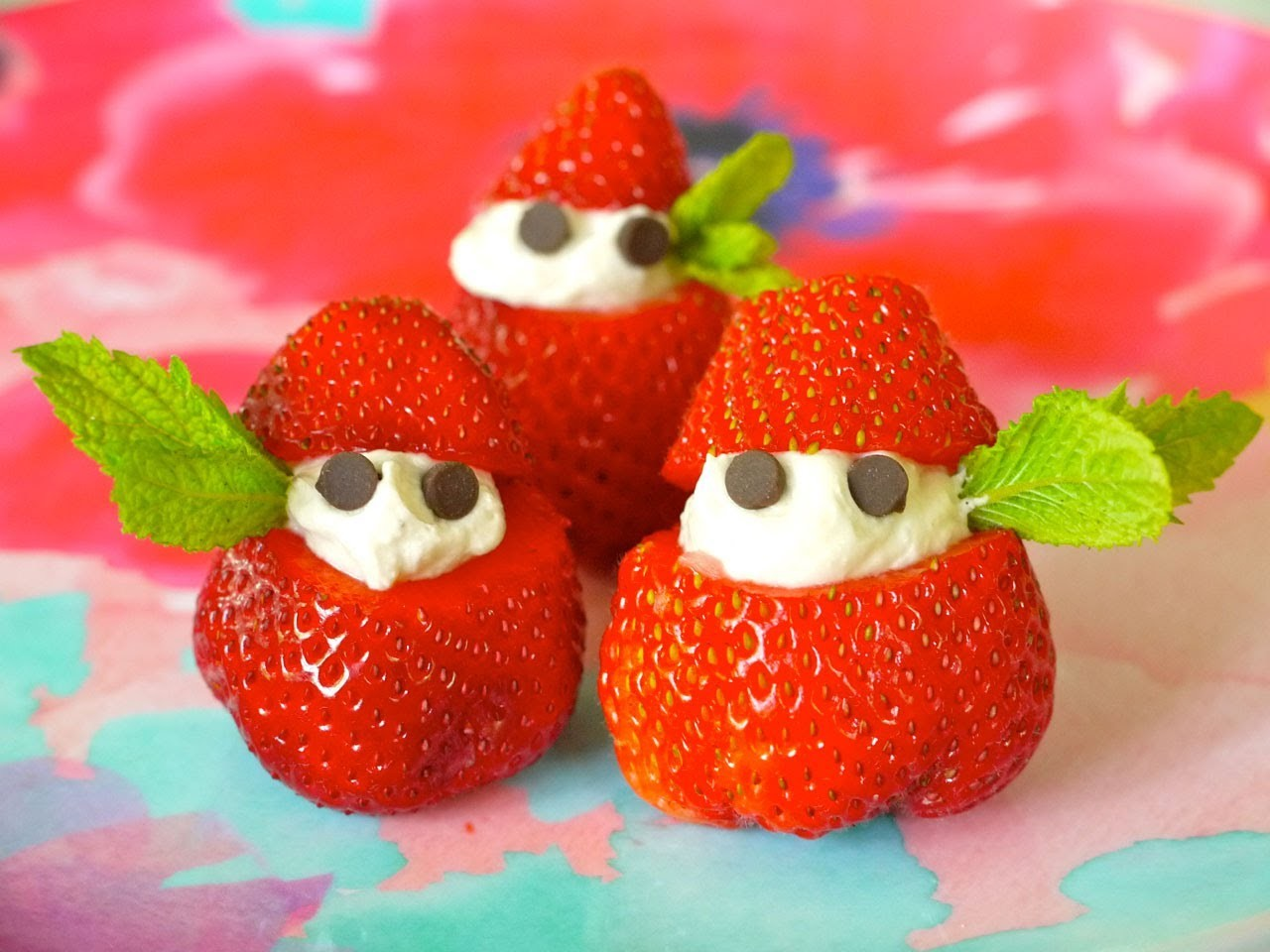 Healthy Snack Recipe for Children: How to Make Strawberries & Cream with Kids - Weelicious
