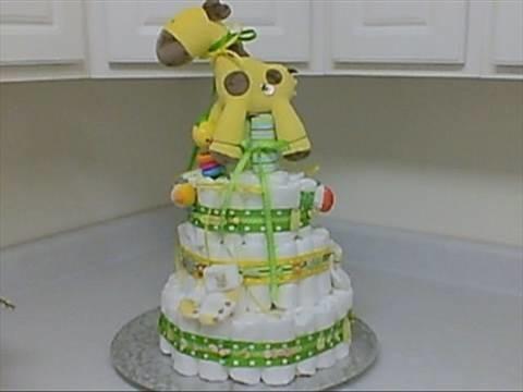 How I Made a Diaper Cake