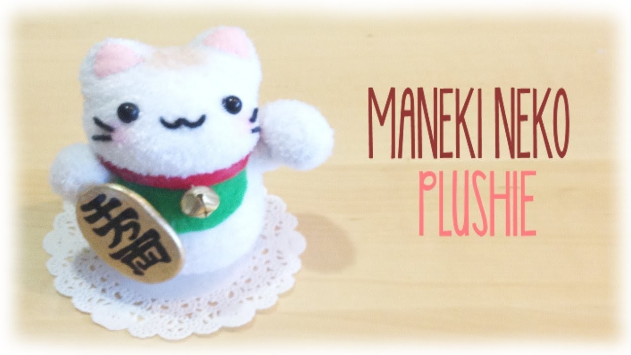 How make Make Lucky Cat Plushie - Maneki Neko Easy Sock Sewing Project
