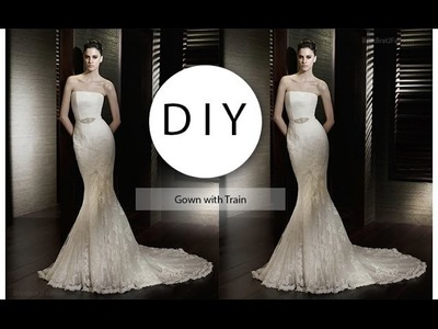 How to add a train to a Gown