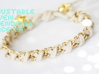 How to: DIY Adjustable Woven Chain Friendship Bracelet