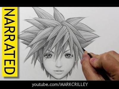 "How to Draw Sora from ""Kingdom Hearts"""