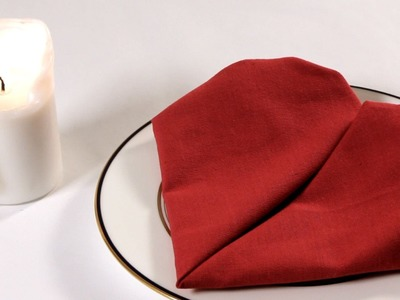 How to Fold a Napkin into a Heart | Napkin Folding