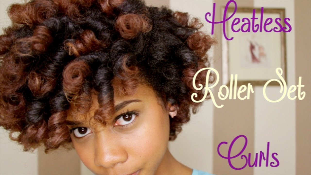 How to: Heatless Roller Set Curls on Natural Hair