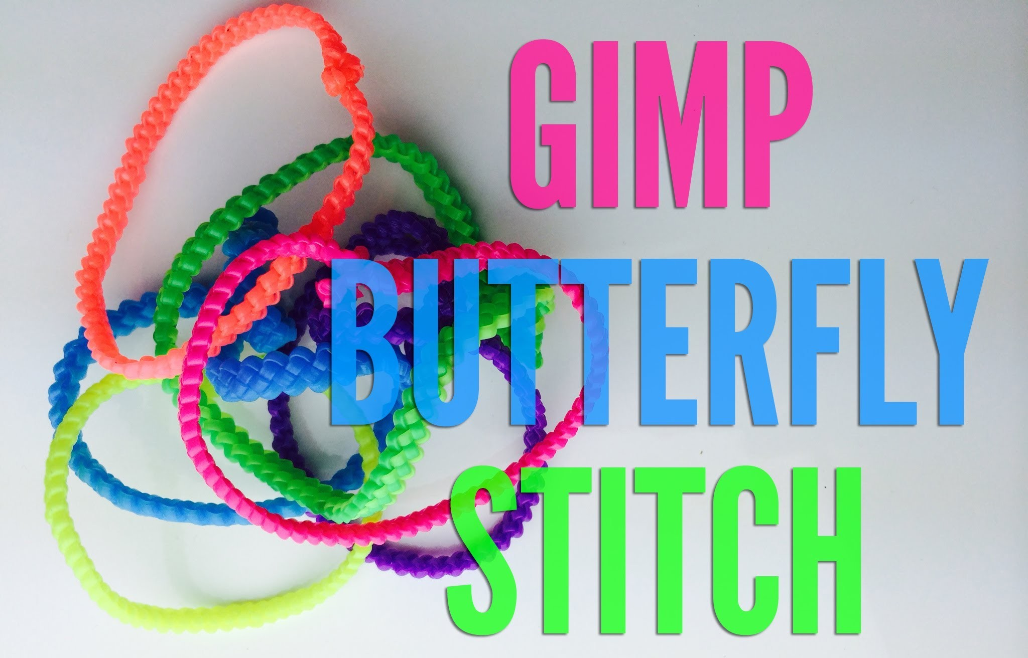 How to Make a Butterfly Gimp Bracelet - Step by Step Boondoggle Tutorial
