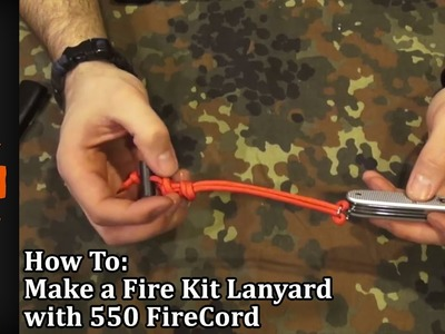 How to Make a Fire Kit Lanyard with 550 FireCord, Paracord Plus Emergency Fire Starter YouTube