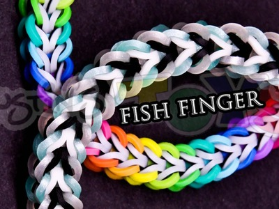 How to Make a Fish Finger #justinstoyshybrid Rainbow Loom Bracelet Tutorial