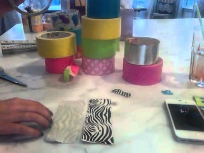 How to make a iphone.itouch case out of duct tape (part1)