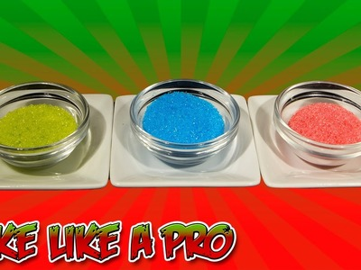 How To Make Colored Sugar Recipe - NO BAKE DRY Method