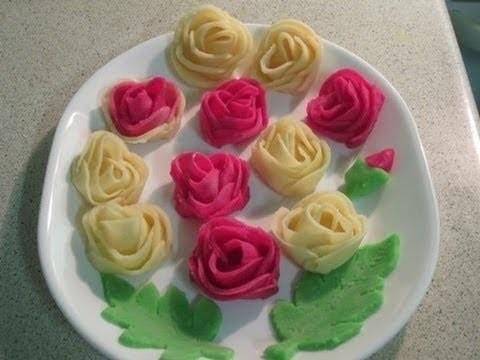 How to make rose flower pitha (gulap pitha)